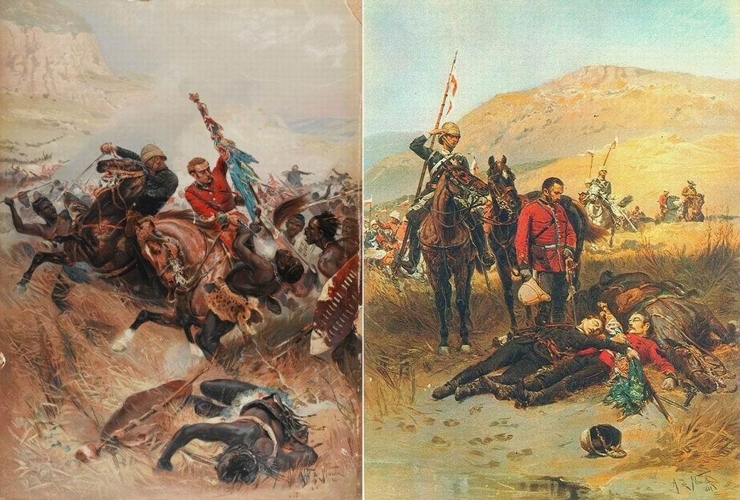 Альфонс де Невиль допустил ряд ошибок в своей картине. Тела нашли не уланы 17го полка, ошибочно показано полковое, а не королевское знамя, к тому же его нашли позднее в реке.