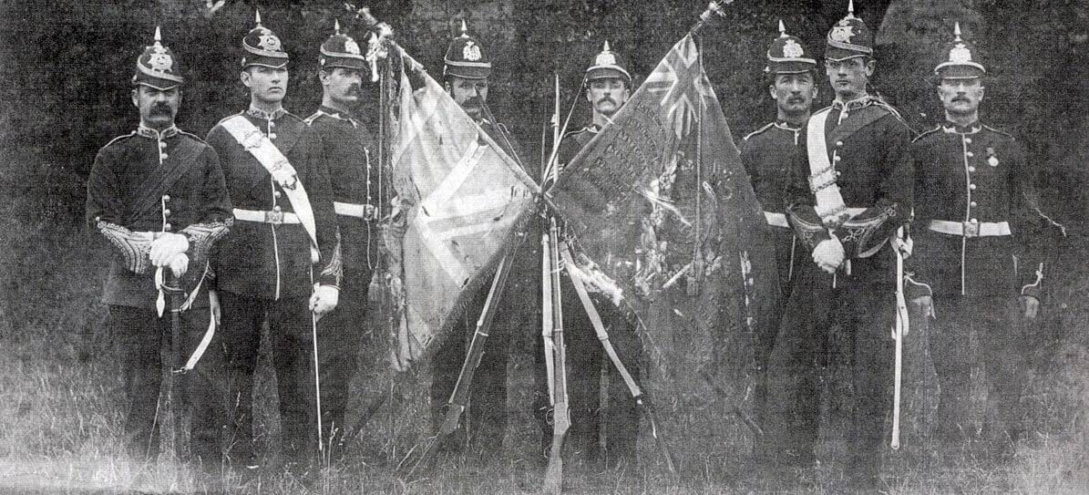 Знамена 1го батальона 24го пехотного полка, 1880г.