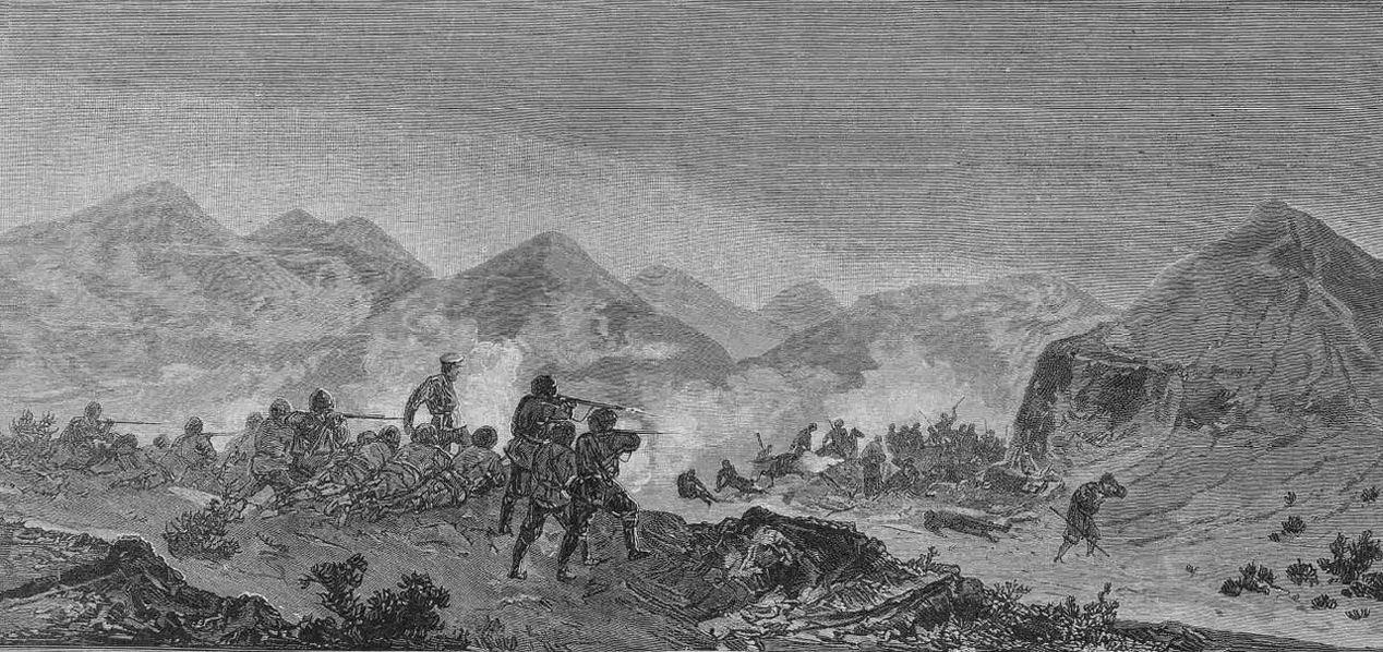 Стычка отряда охотников подпоручика Апшеронского полка Воропанова с текинцами в ночь с  12 на 13 августа 1880г.