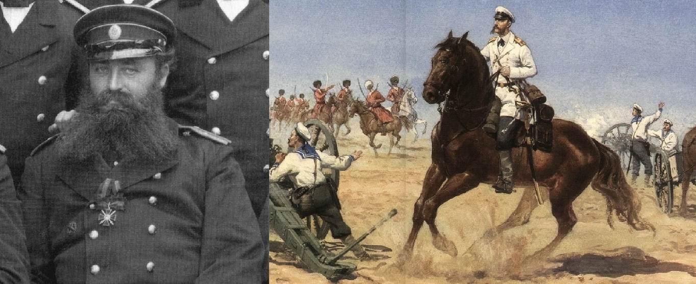 Н.Н. Шеман в 1887г. (на груди Владимир IV степени с мечами и бантом, за Геок-Тепе), и в 1880г. на картине А.А. Троня, 2009г.