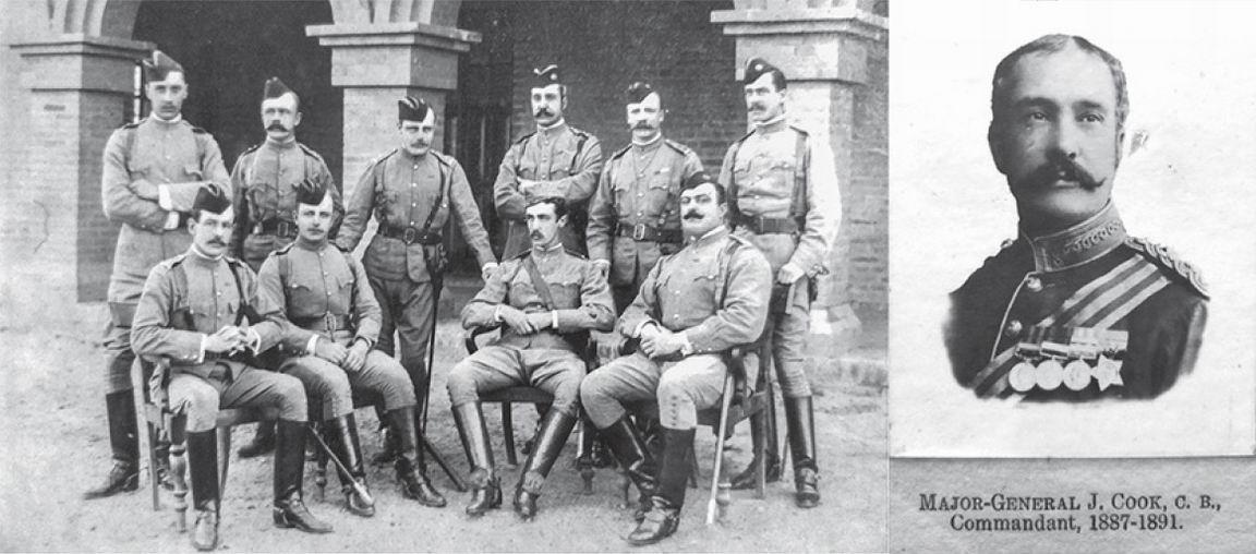 Первый состав офицеров и первый командир 36го полка.