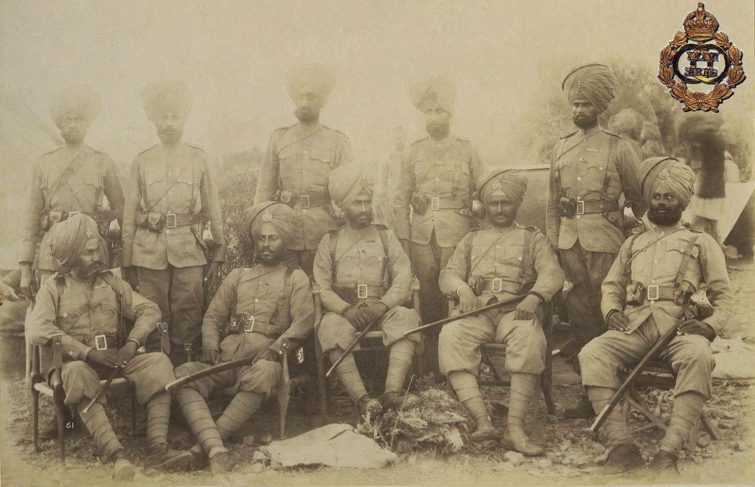 Группа индийских офицеров 36го полка, 1890е гг.