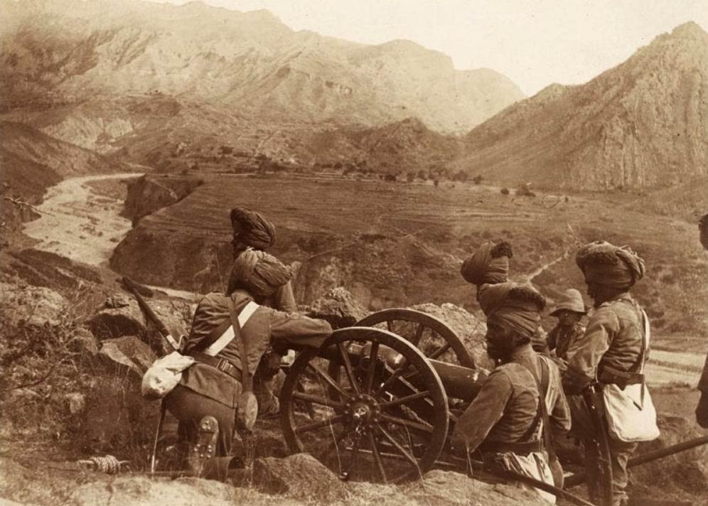Горная батарея в Тирахе, 1897г.
