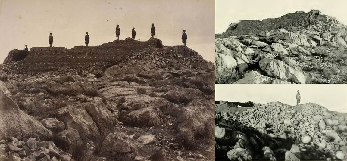 Развалины Сарагархи спустя несколько дней после боя.