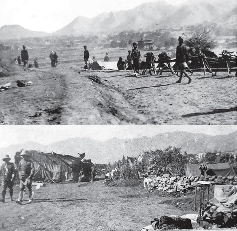 Лагерь 36го Сикхского полка, Тирахская экспедиция, 1897г.