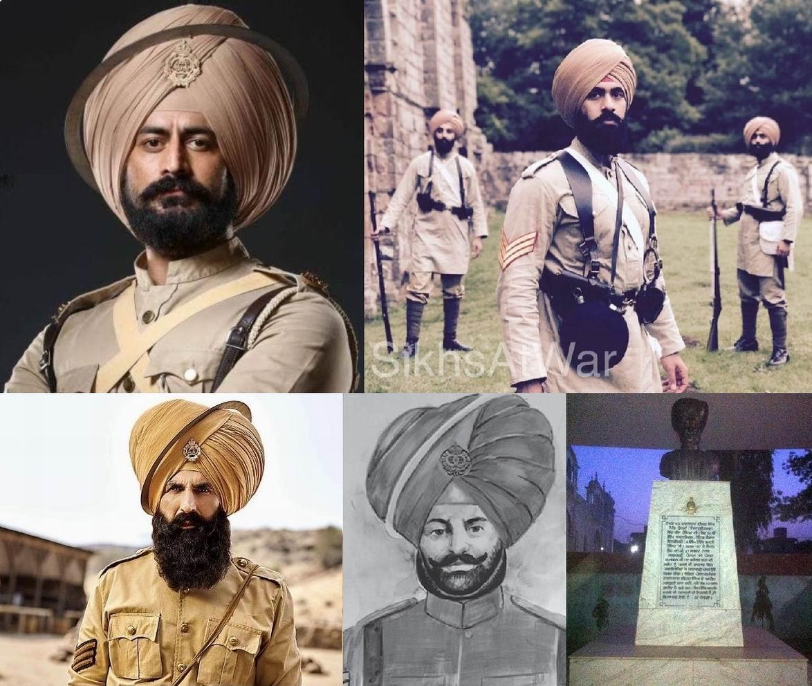 Реальных изображений Ишара Сингха нет. Так его представляют современные актеры, художники, скульпторы.