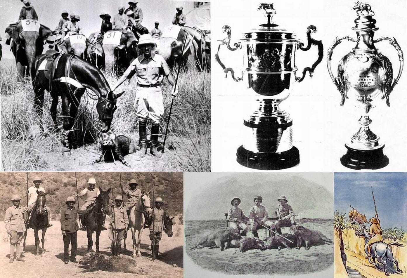 Слева сверху - победители Кубка Кадира 1936г.: Манифест и бригадир Так, справа - награды.