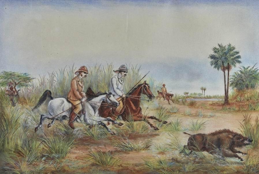Серия из четырех акварелей художника Дж. Престона. 1885г.