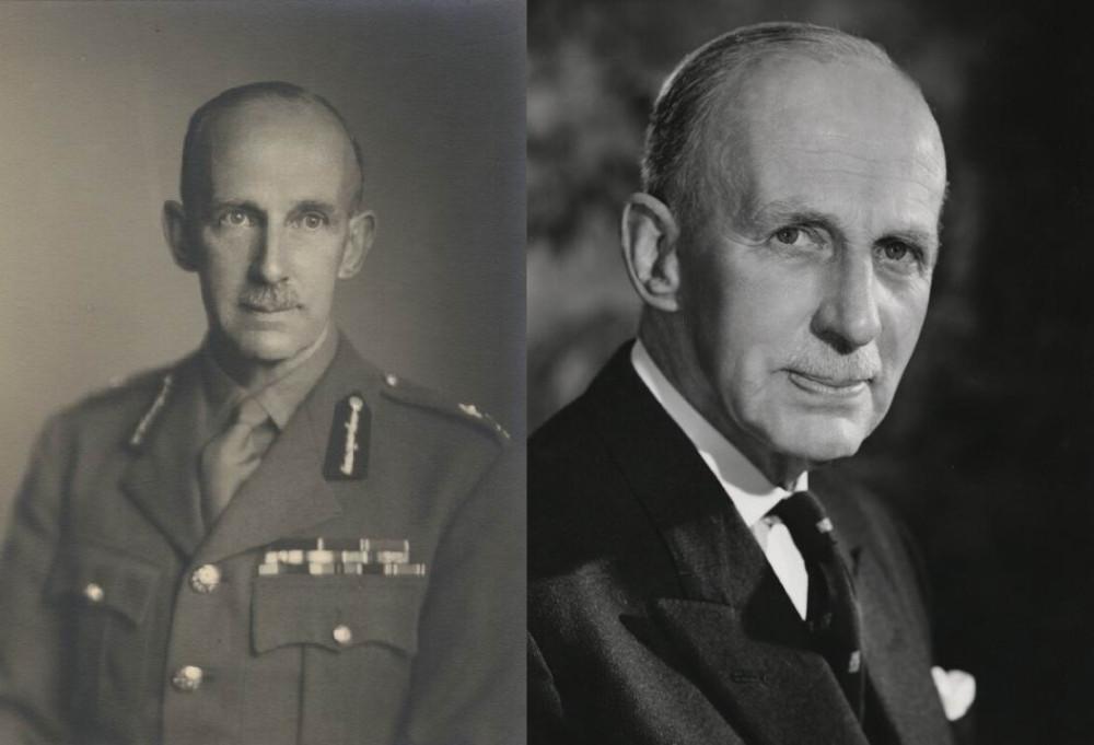 Генерал-майор Ч. О. Харви. Слева в 1945, справа в 1962г.