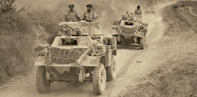 Предположительно, бронемашины 6го уланского полка, Италия.