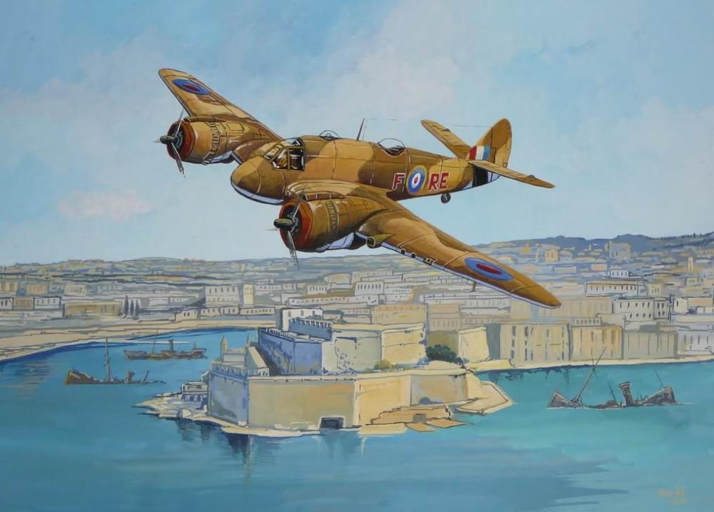 """Бристоль """"Бофайтер"""" над Мальтой, 1942г."""