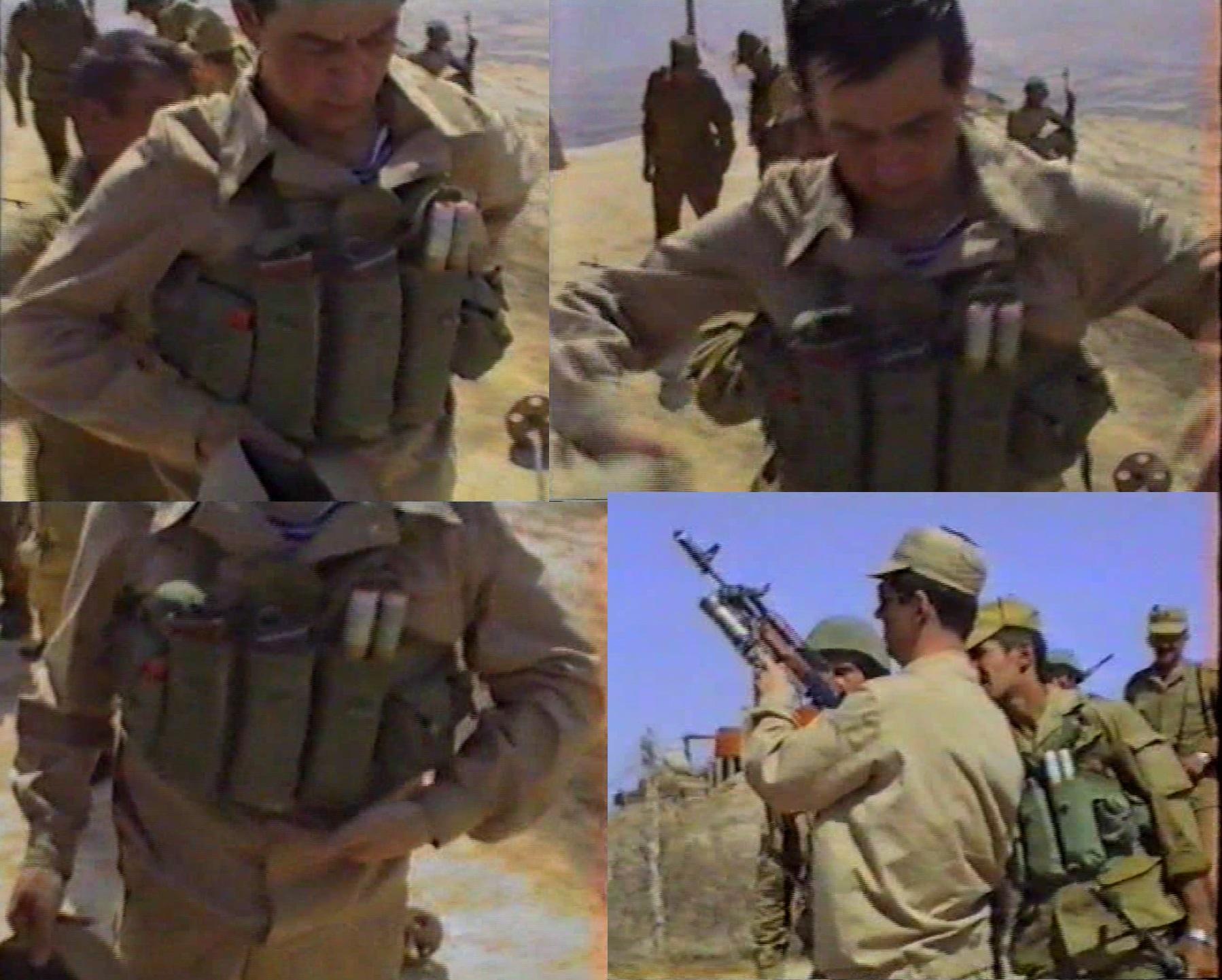 Генерал в тельняшке и мабуте без знаков различия. Примеривает чиком, стреляет из подствольника.