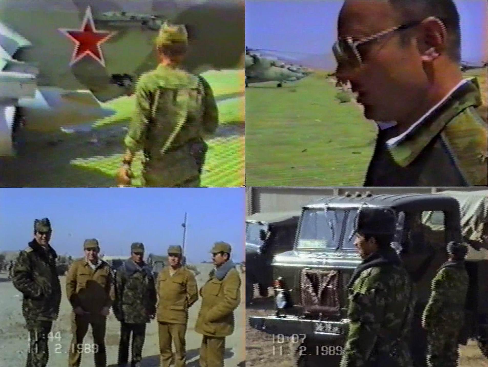 Стандартный набор обладателей камуфляжа в те годы - летчик, генерал (видимо тоже ВВС), еще генерал и старшие офицеры (опять-таки далеко не у всех), пограничники.