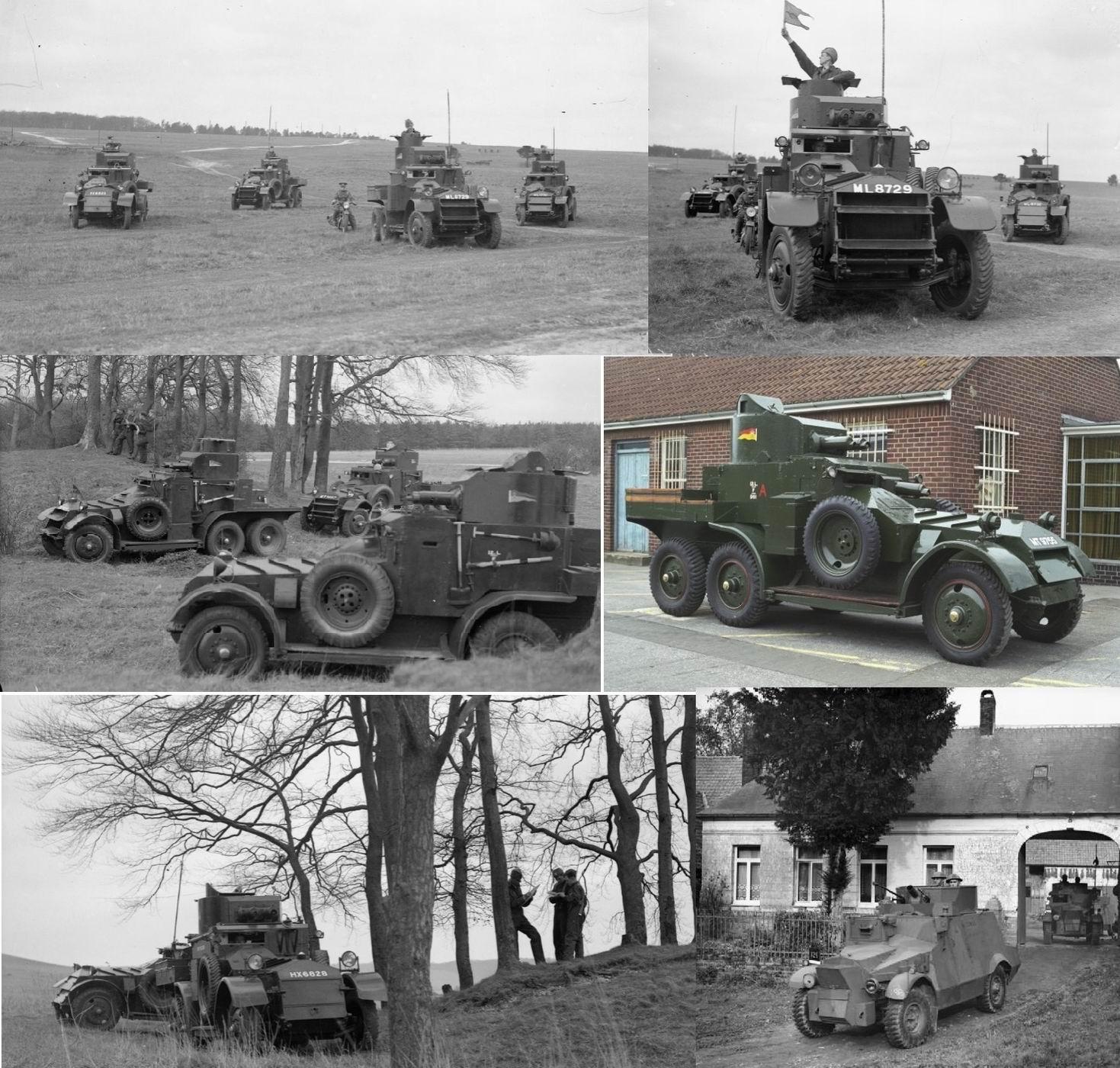 Фотографии с предвоенных учений, музей и внизу справа - уланы на Моррисах во Франции, сентябрь 1939г.
