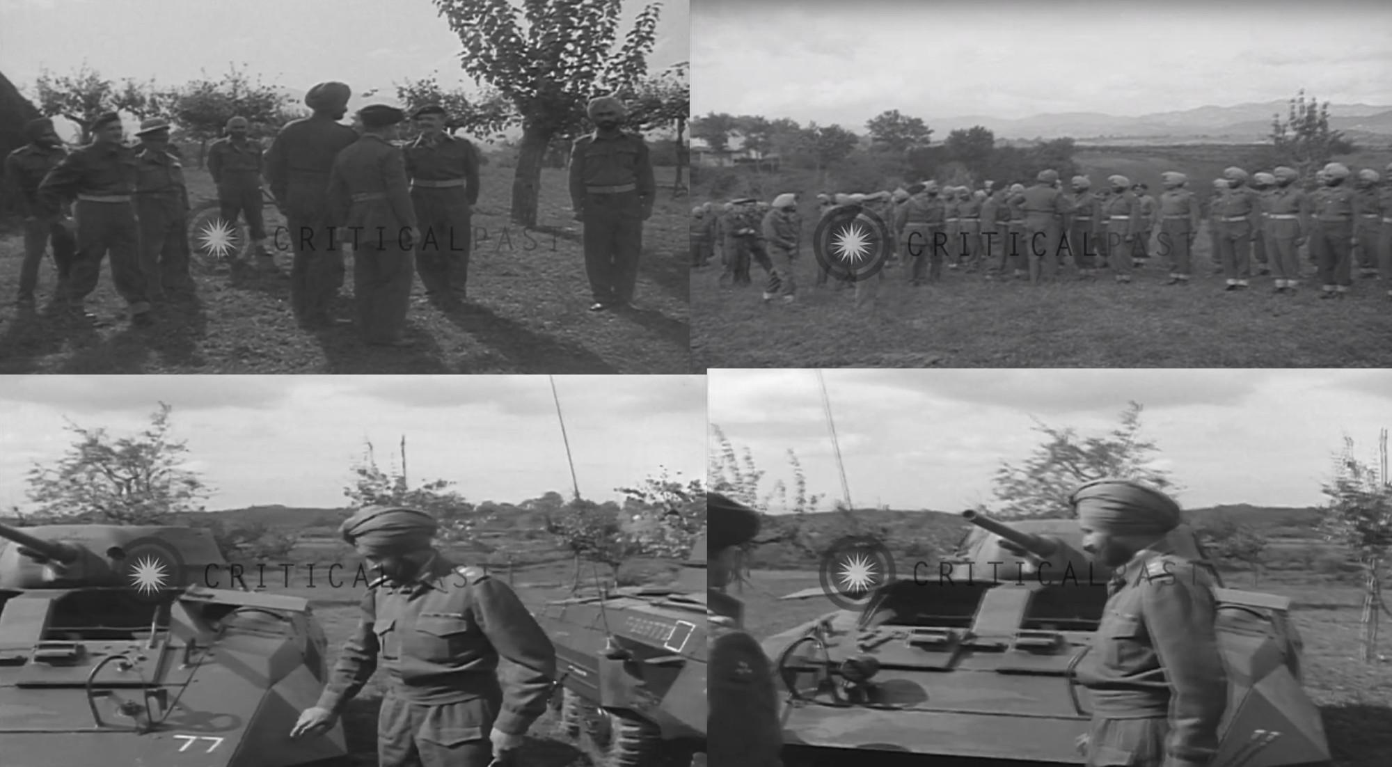 В октябре 1944г. Ядавиндра Сингх, 9й и последний махараджа Патиалы, посетил 8ю дивизию в Италии. Судя по униформе и технике на видеокадрах есть уланы 6го полка. Может быть даже и Инголл.