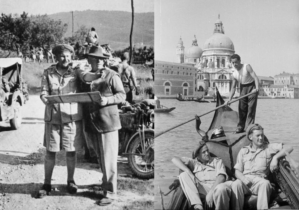 Генерал Фрейберг в Италии и новозеландцы в Венеции.