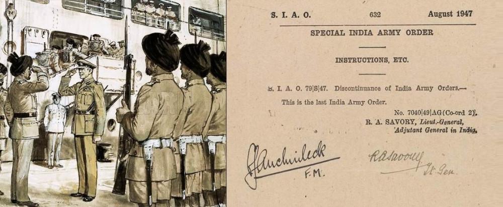 """""""Сумерки империи: последние британские войска покидают Бомбей, август 1947г."""", худ. C. Даути. Последний приказ Индийской армии."""