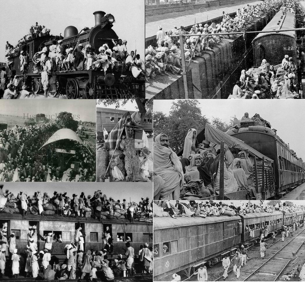 Поезда с беженцами в 1947г.