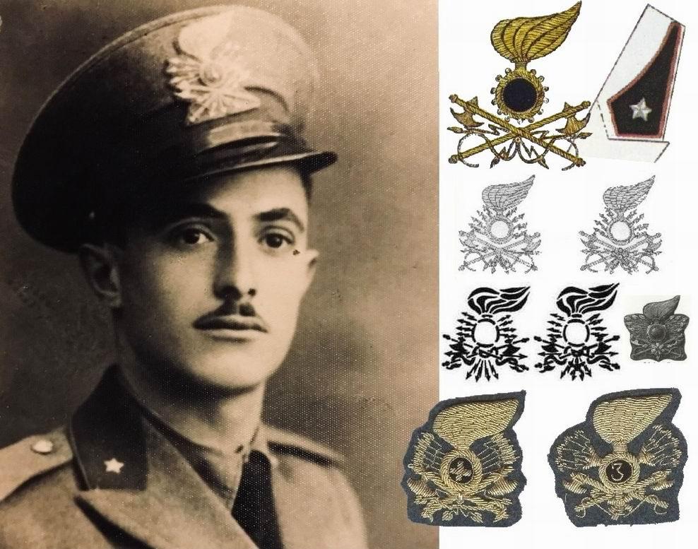 """Инженерная эмблема и петлица -""""пламя"""" (вверху), ниже эмблемы телеграфистов (слева) и радиотелеграфистов (справа) из различных источников."""