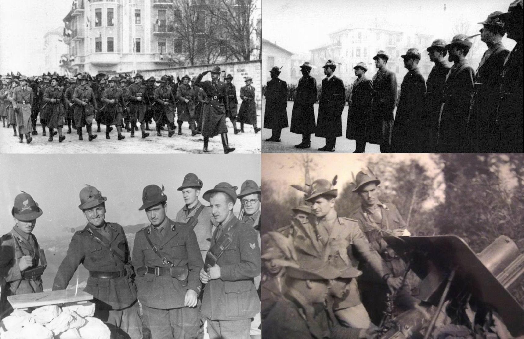 Вверху слева -  Пампалони марширует во главе батареи, 1940г., Вверху справа - Пампалони 2й справа среди офицеров, 1940г. Внизу слева - артиллеристы 33го полка и, похоже, санитары. Внизу справа - лейтенант Ренцо Аполлонио, еще один герой Сопротивления на Кефалонии. Капитан Корелли в книге и фильме -собирательный образ Пампалони и Апполонио.