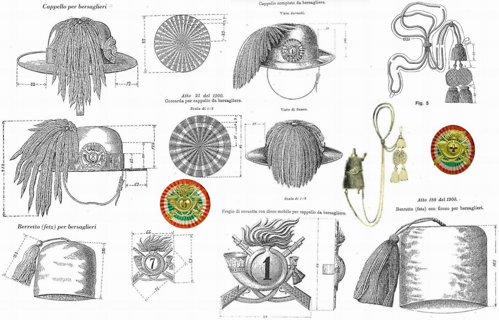 Рисунки из приказов 1880г. и 1900г.