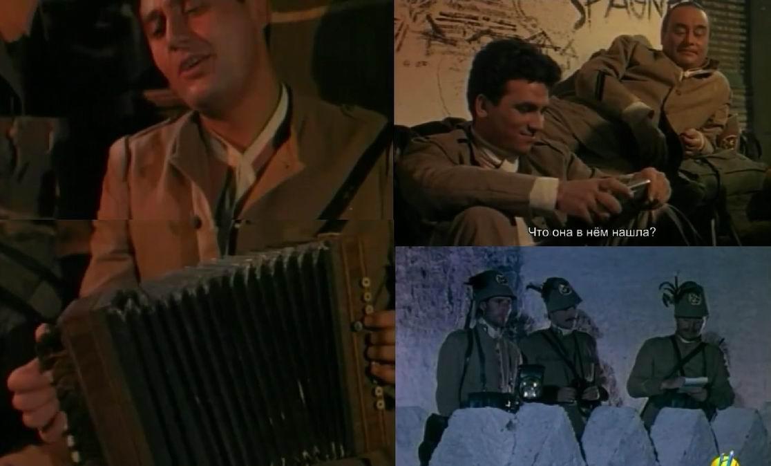 Красивая грустная песня скрашивает тяжелые будни солдата...