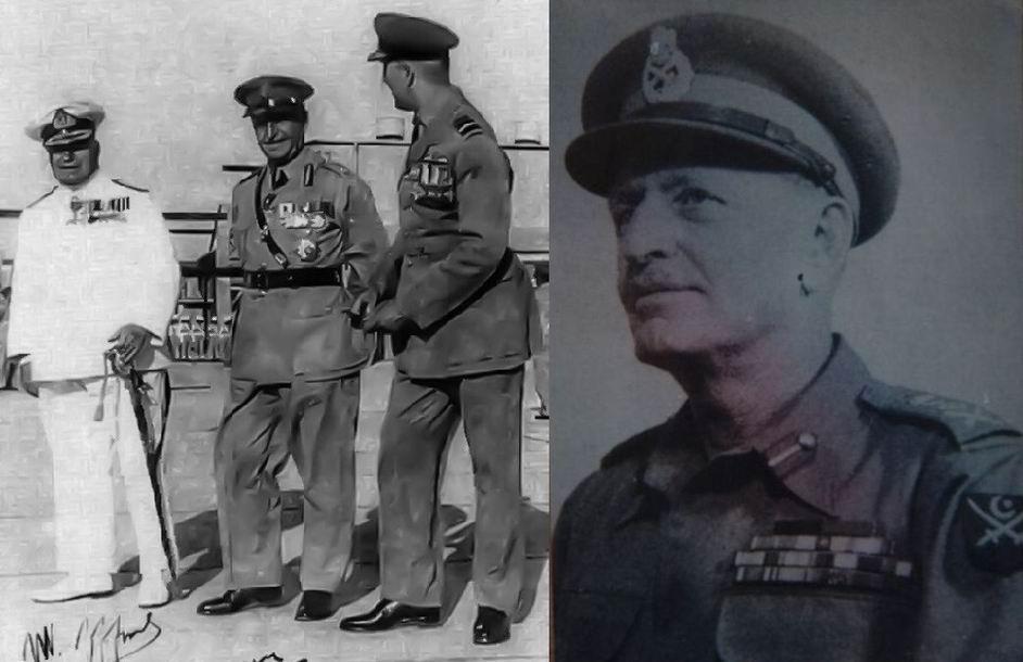 Командующие новых вооруженных сил: адмирал Джеффорд, генерал Грейси и маршал ВВС Этчерли. Генерал сэр Дуглас Дэвид Грейси в 1951г.