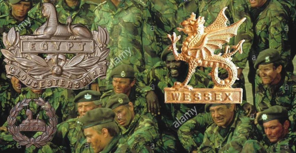 Слева - Глостерширский полк. Справа - Уэссекская бригада.