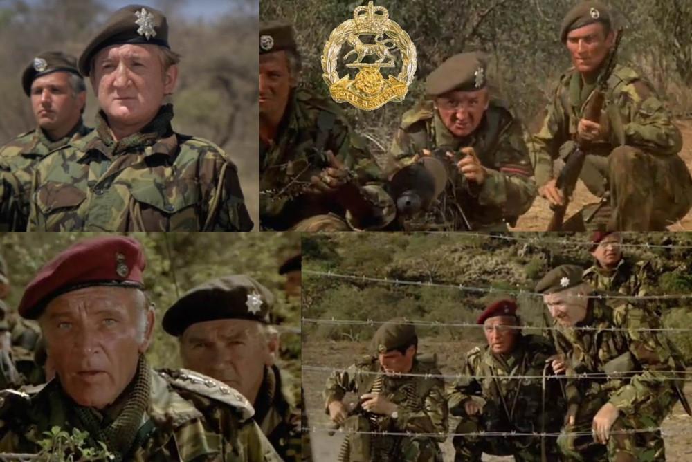 Вверху - Королевский Гэмпширский полк. Внизу - непонятные восьмиконечные звезды.
