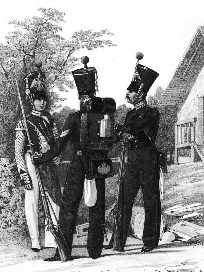 Барабанщик, рядовой и унтер-офицер Лейб-Гвардии Финского стрелкового батальона, 1829-1833гг.