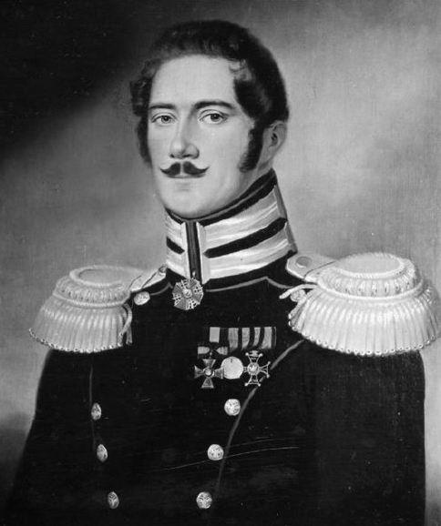 Подполковник Лагерборг. Худ. Й. Э. Линд.
