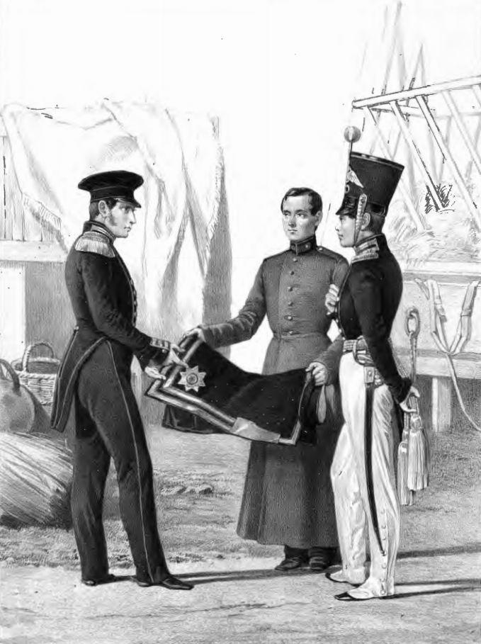 Штаб- и обер-офицер Лейб-Гвардии Финского стрелкового батальона, 1829-33г.