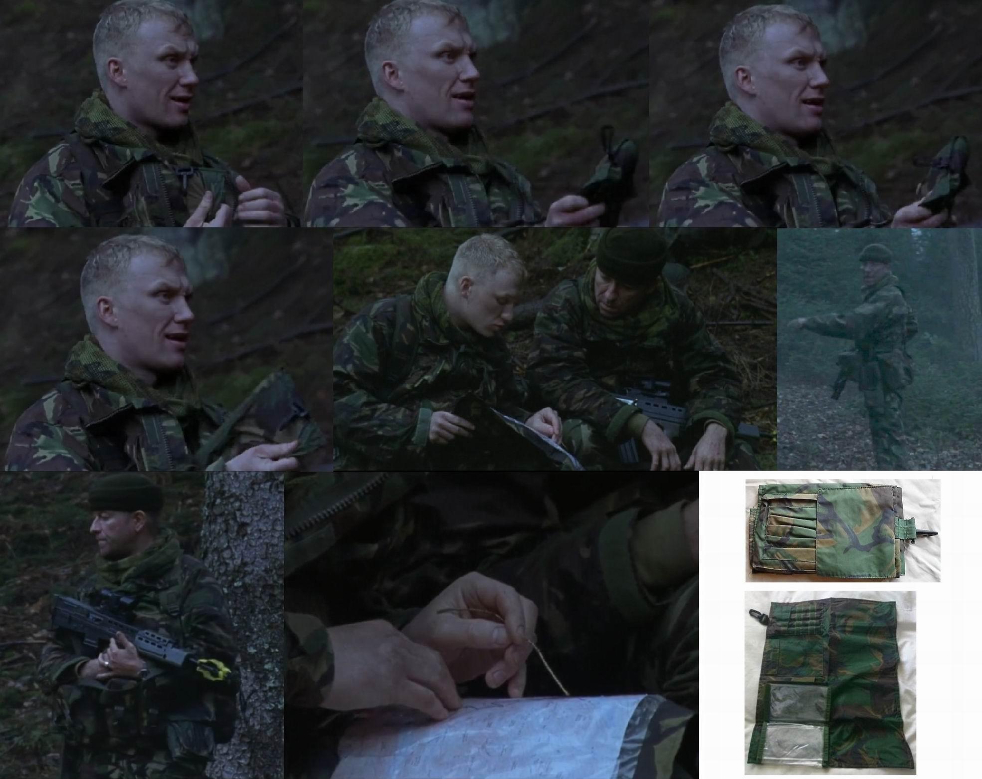 У Купера есть командирский мягкий «планшет» для карт – он носит его за пазухой. У Уэллся тоже, но на поясе слева.