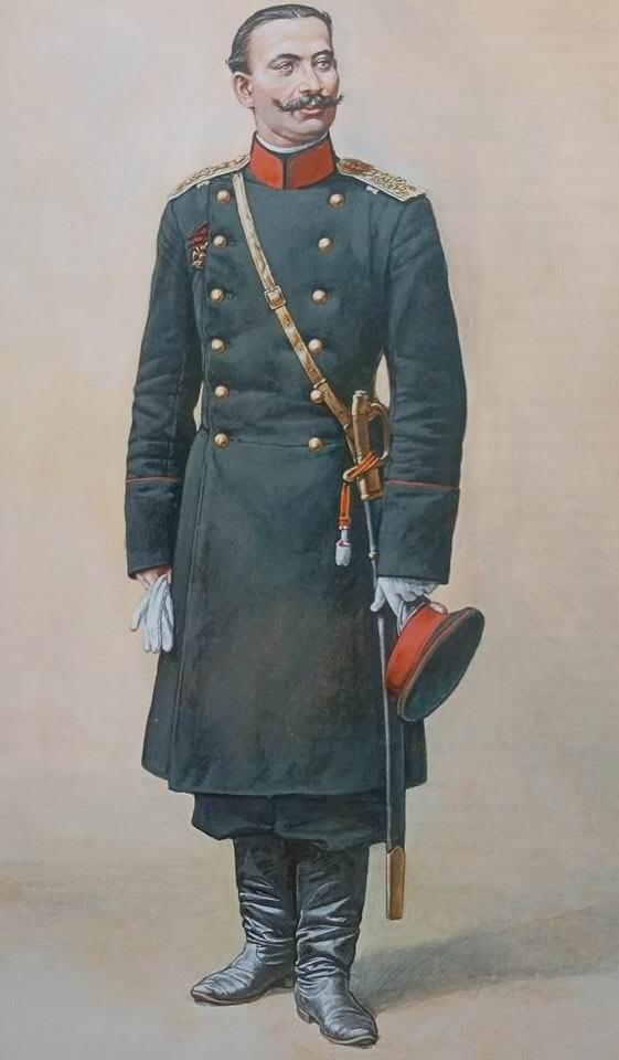 Обер-офицер 3го Александровского военного училища, 1885г.