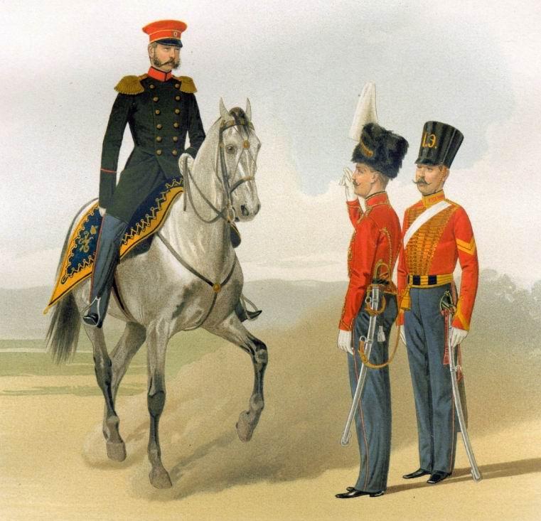 Чины Лейб-Гвардии Гусарского полка, 1840-50е гг.