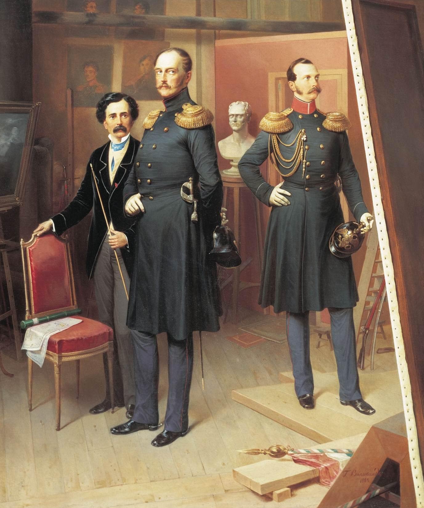 ...и настоящий на картине Б.П. Виллевальде, 1854г.