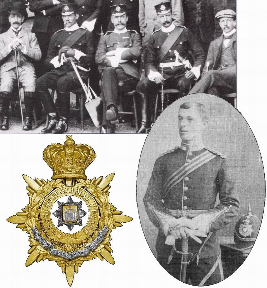Вверху - офицеры 2го батальона Восточно-Суррейского полка, Каир, 1884г. Внизу - младший офицер Восточно-Суррейского полка, 1887г.
