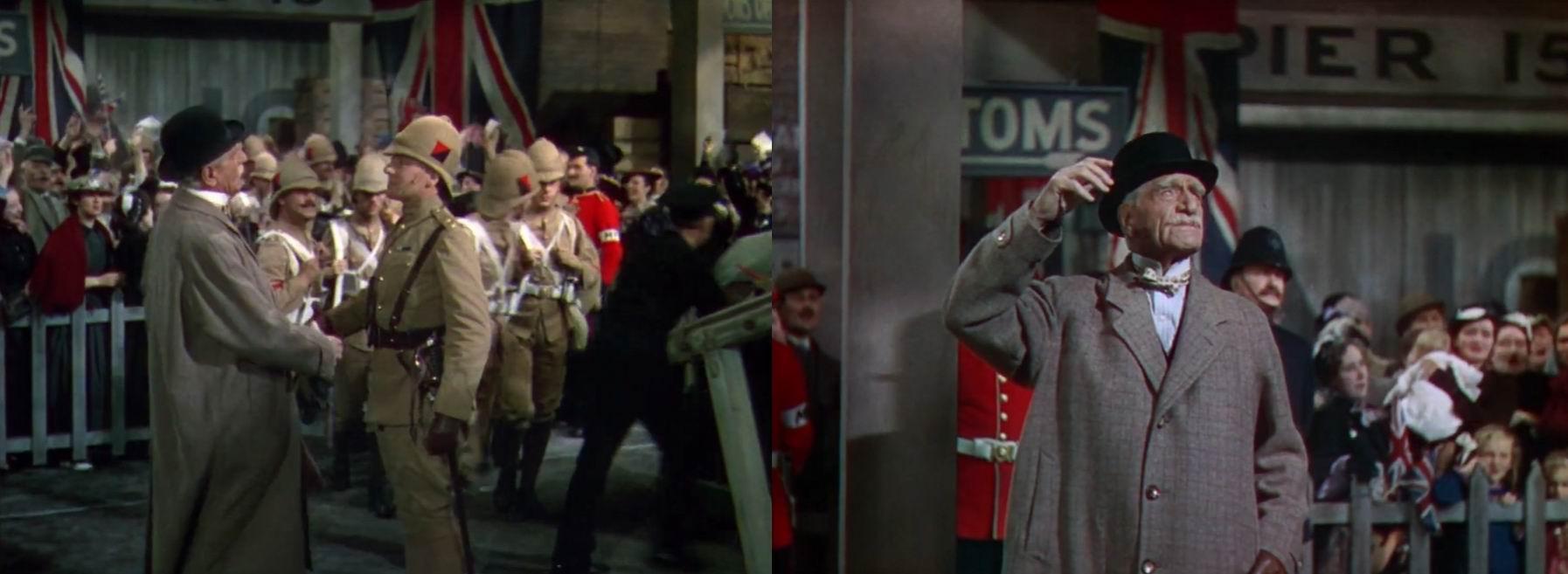 """""""Четыре пера"""" (1939). Военный полицейский с белой повязкой на рукаве."""
