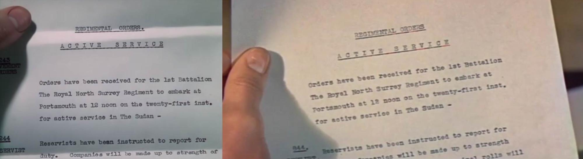 """""""Четыре пера"""" (1939) и """"Буря над Нилом"""" (1955)."""