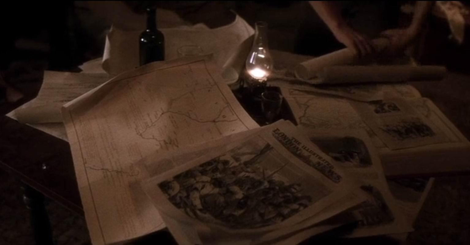 """На столе лежит газета """"Иллюстрированные лондонские новости""""..."""
