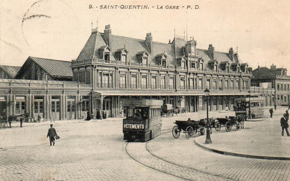 Вокзал Сен-Кантена, 1906г.
