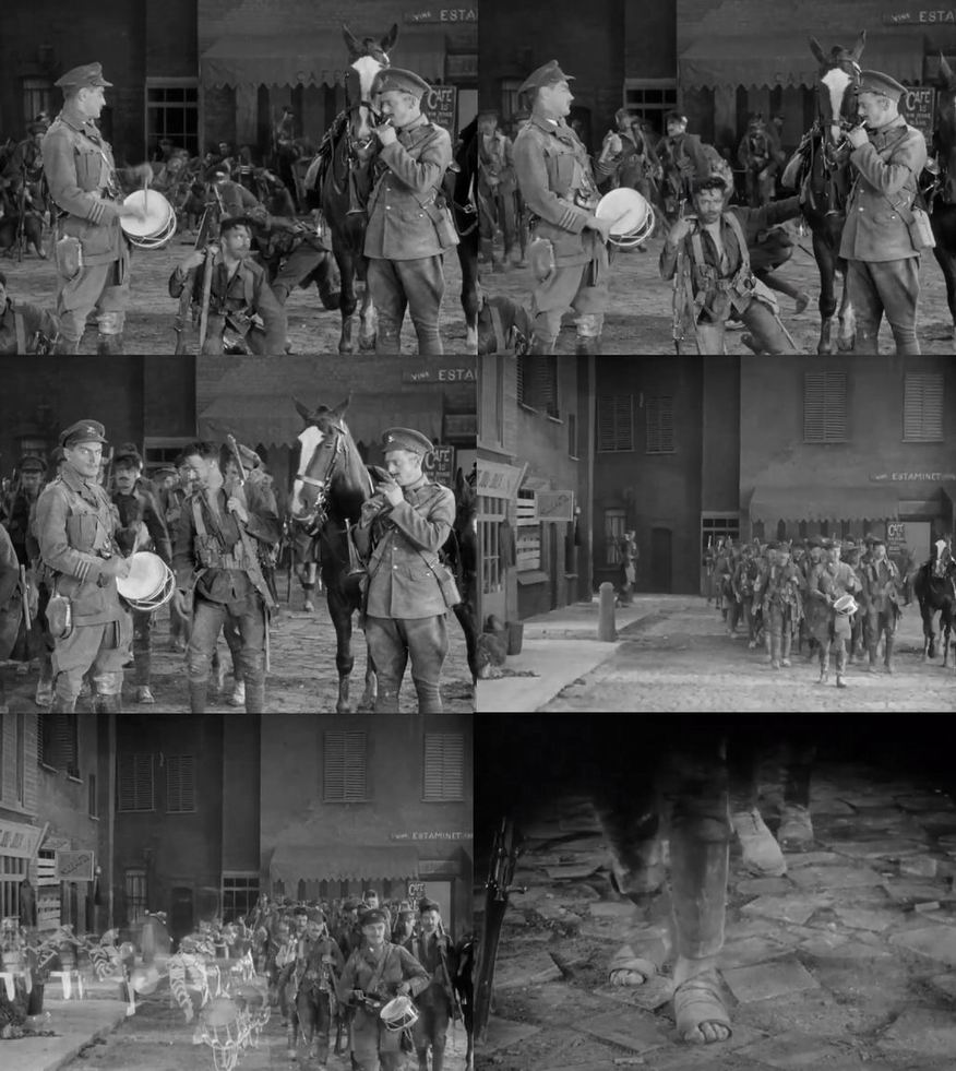 Знаменитая сцена с  игрушечными барабаном и дудкой в фильме «Монс» (1926).