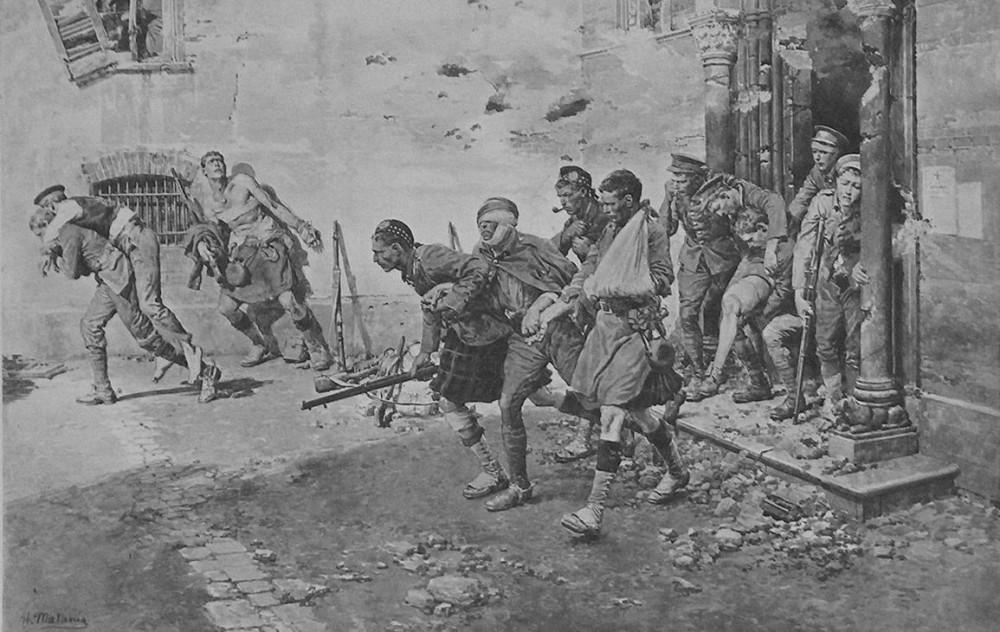 """""""Раненые помогают раненым"""", худ. Ф. Матаниа."""