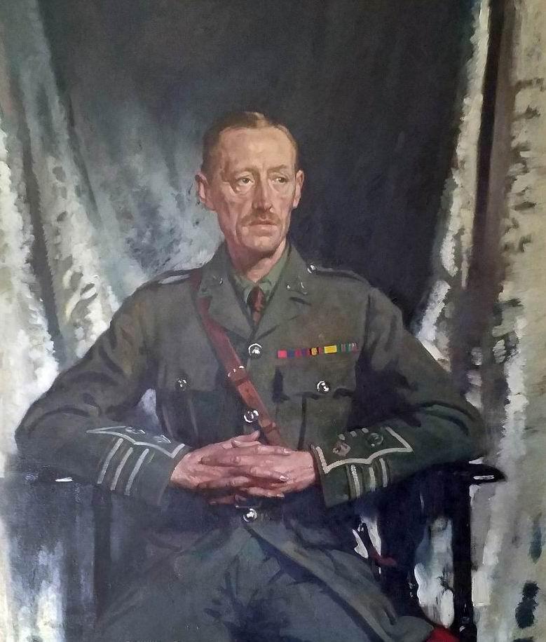 """Худ. У. Орпен """"Портрет подполковника Д.Ф.Элкингтона"""", 1916г."""