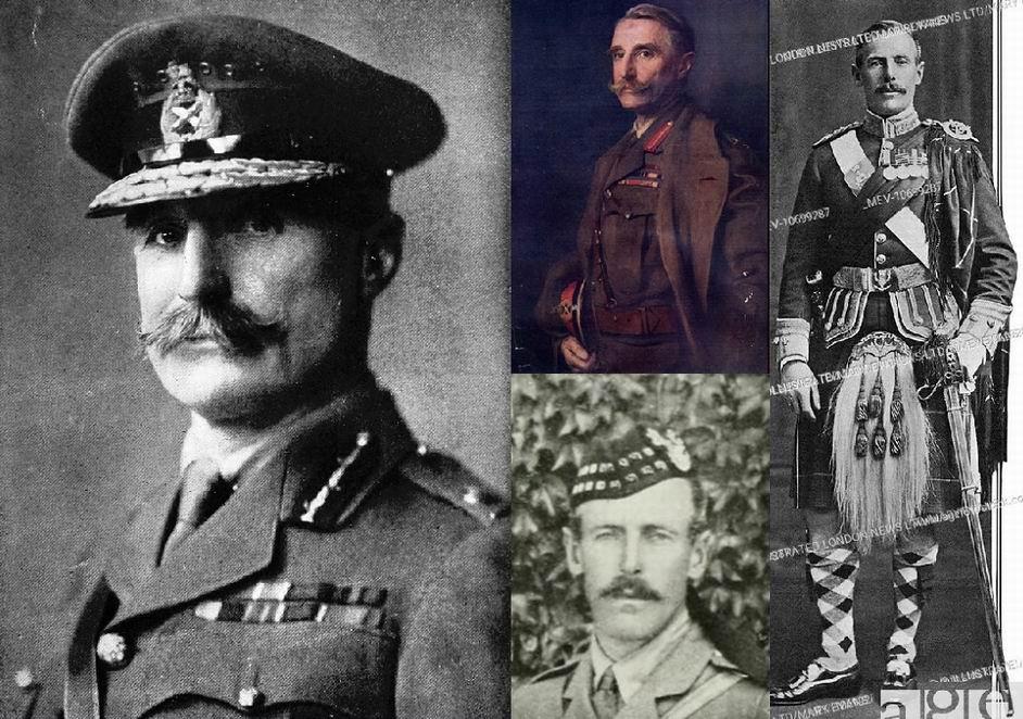Генерал А. Хантер-Уэстон (слева и в центре вверху), подполковник И.Р. Брэдфорд (справа и в центре внизу).