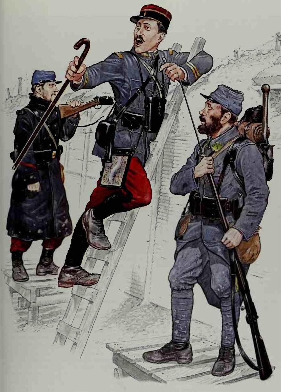 Легионер 2го класса 2го маршевого полка 2го иностранного, октябрь 1914г., Лейтенант маршевых полков, осень 1914г., Капрал  1го иностранного полка, Артуа, весна 1915г.