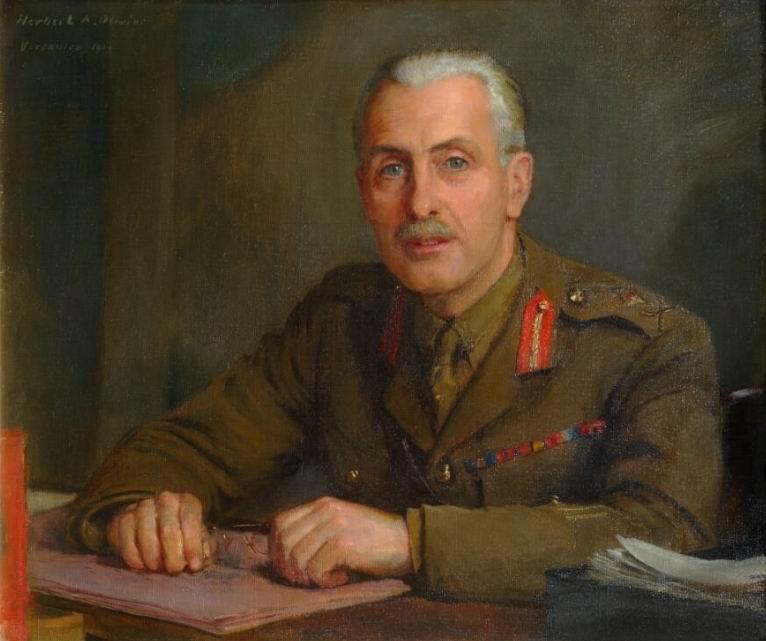 Генерал-майор достопочтенный Ч.Д. Саквилл-Уэст. Худ. Г.А.Оливье.