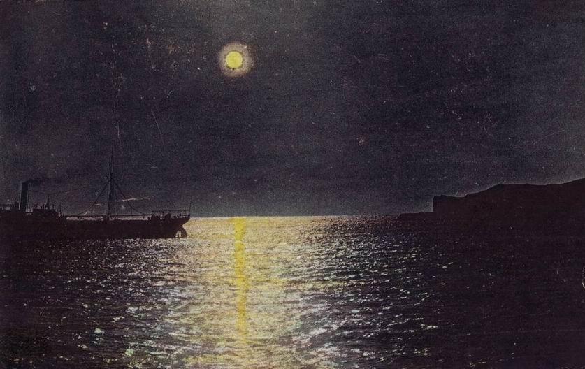 Феодосия, мыс Св. Ильи ночью.