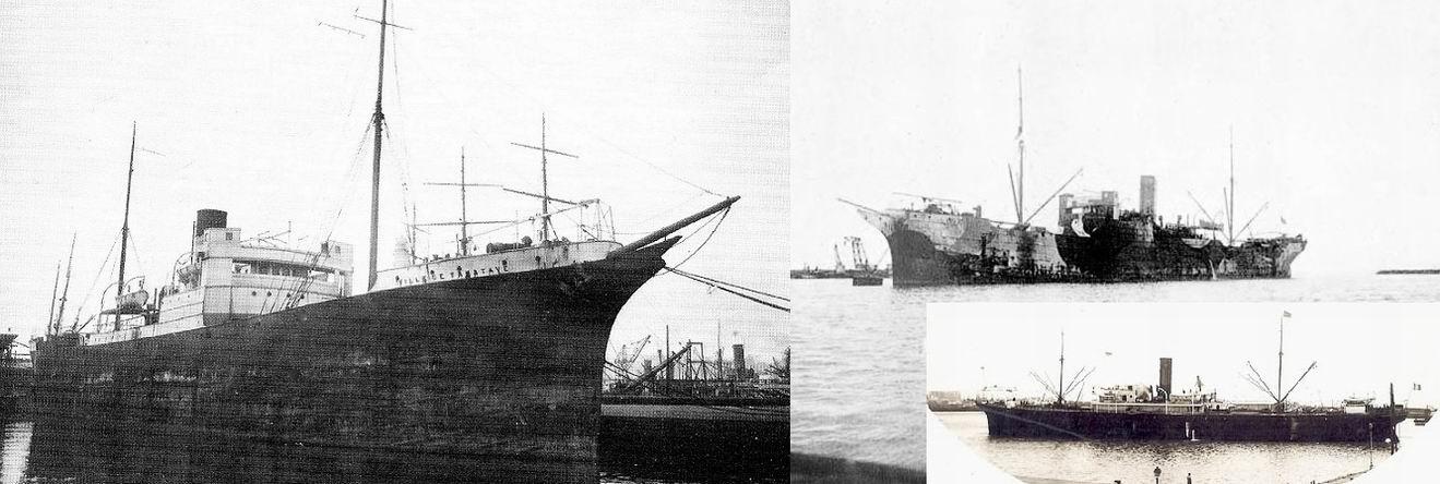 """""""VILLE DE TAMATAVE"""" (1898-1924) в разные годы."""