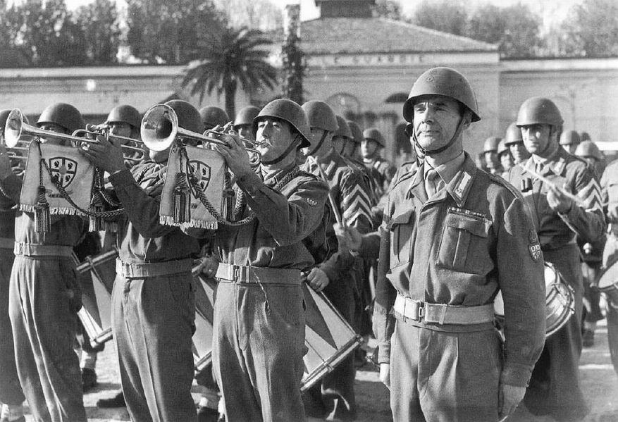 Оркестр 1го полка Сардинских гренадеров, 1950-60е гг.